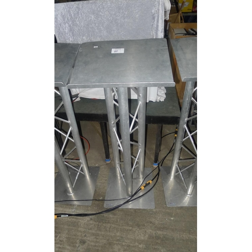 27 - 1 aluminium truss lecturn approx 101cm high at front...