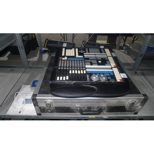 48 - 1 Avolites Azure Shadow 2000/4 light control desk serial no 1129 with instruction book, an external ...