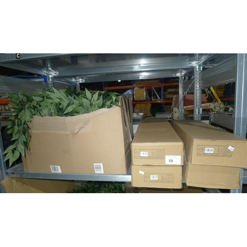 59 - A quantity of artificial leaf garlands - contents of 1 shelf...