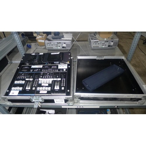 38 - 1 multi format video mixer by Roland type V-440HD, 240v supplied in a flight case approx 52cm w x 52...