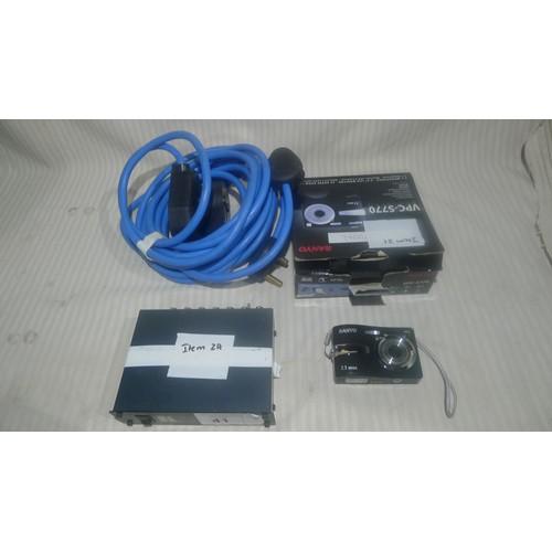 41 - 1 Kramer Video Distributor (no power supply), 1 Sanyo VPC-S770 7.1MP digital camera & 2 x 15amp roun...