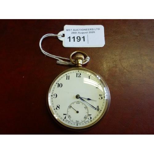 1191 - A 9 carat gold gentleman's pocket watch