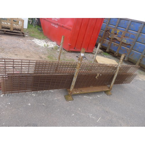 2386 - A quantity of metal mesh gratings (rusty) - stillage is not included