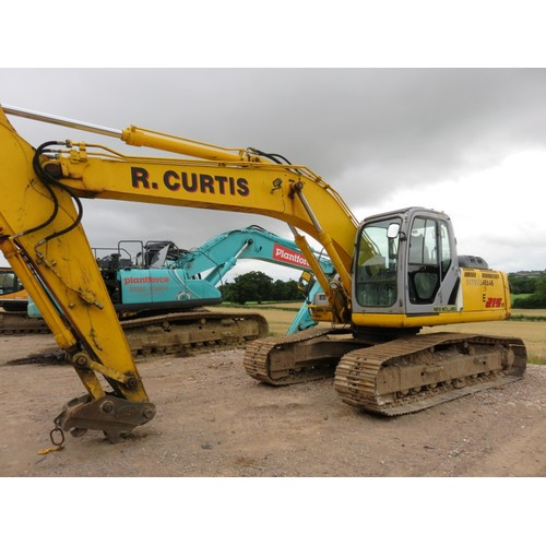 2397 - New Holland E215B 21 ton excavator s/n 21895, 2007, recent overhaul of main pins, see invoice. 9666 ...