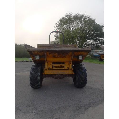 2388 - 1 Thwaites 6 ton dumper type MACH 665, YOM 2010, serial no. SLCM665Z1002 B9393 (D6-2), 2559 hrs Inso...