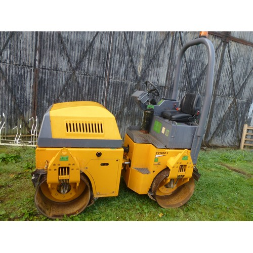 2387 - 1 Benford (R1) twin drum compaction roller model TV1200-D, serial no. SLBT00ROE404 CC119, 1398 Hours...