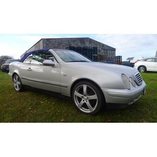 1004 - Mercedes CLK 320 convertible coupe, Reg C13 SPG. 1st Reg 07/03/2001 Decl manufactured 1999, Silver, ...