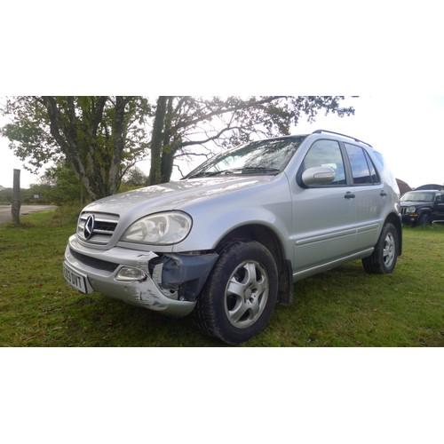 1005 - Mercedes ML270 CDi Auto, 4x4 estate, Reg. HJ03 DVT, 1st reg 22/05/2003, 2688cc 5 sp auto Diesel, Mil...