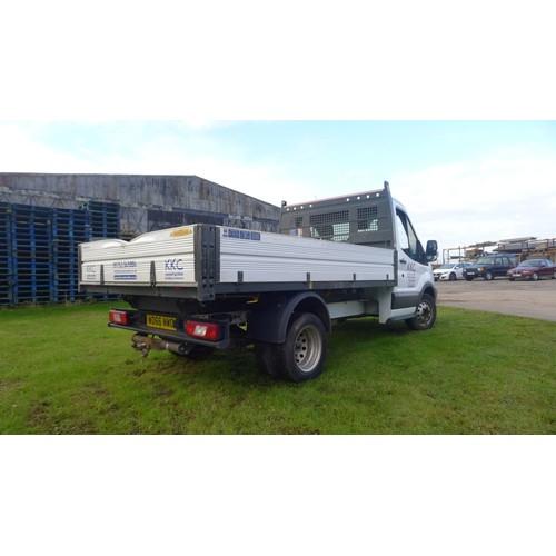 1007 - Ford Transit 350 L2 Diesel RWD 2.0 TDCi 130PS Tipper truck, Reg WD66 NWO, 1st reg 24/01/2017 6sp man...