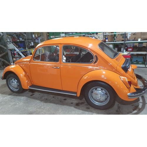 1003 - VW Beetle 1300 1973, Reg UEA 79M, 1st Reg 20/08/1973 1288cc. Mileage 33820' orange , Manual.  MoT & ...
