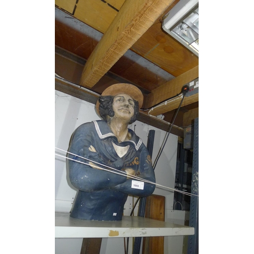 1055 - A large ship's figurehead of a sailor, approximately 73 cm tall (resin)...