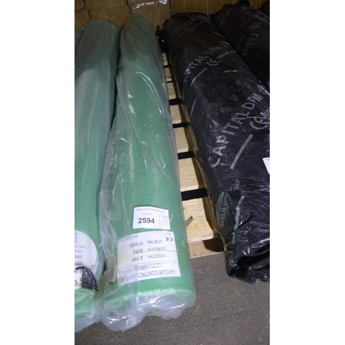 2594 - 1 roll of vapour control layer (VCL) 125mu green, roll is approx 50m long x 2.5m wide RRP region of ...