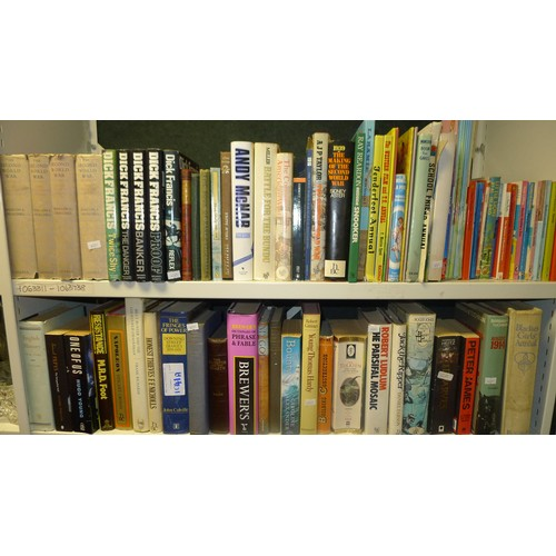 1041a - Quantity of miscellaneous interesting hardback and paperback books (2 shelves)