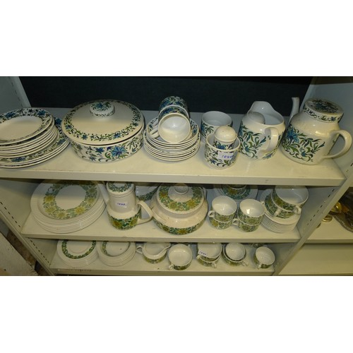 1040 - A part Royal Doulton Camelot dinner service and two other part dinner and tea services (5 shelves)