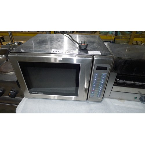 3384 - A commercial stainless steel microwave oven by Menu Master type UFS18E 1800W - Trade...