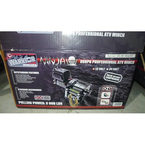 2681 - 1 winch by Warrior type Ninja 20SPS Professional ATV, 12 volt, pulling power 2000lbs...