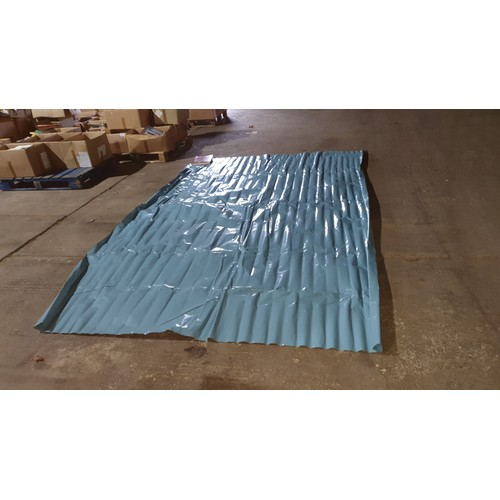 2634 - A quantity of approximately 25 sheets of blue damp proof membrane (DPM), each sheet has been cut fro...