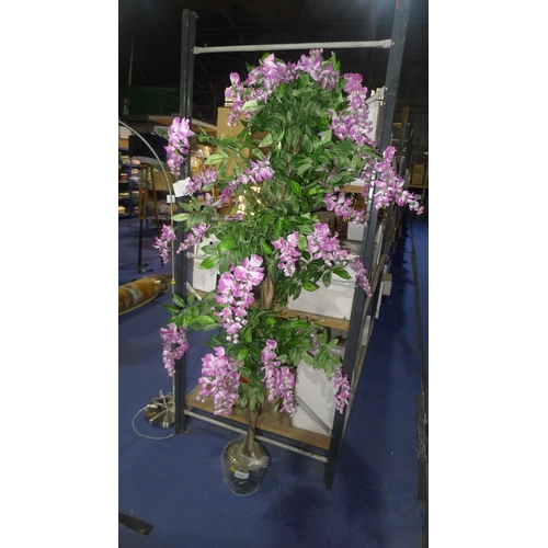 4339 - A large artificial pink and white flowered plant...