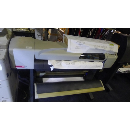 309 - A wide format plan printer by Hewlett-Packard type Design Jet 500, comes with spare ink & paper - tr...