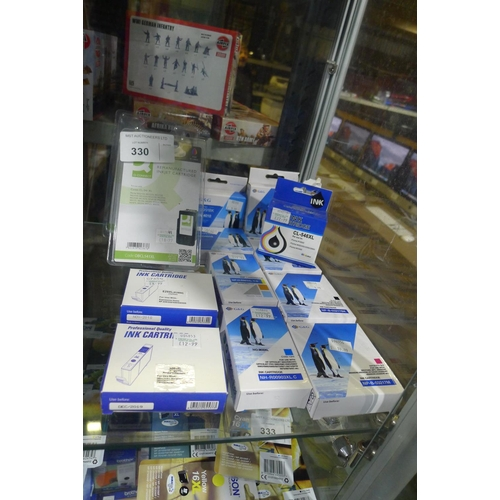 330 - A quantity of various 3rd party ink cartridges please see pictures for more details...