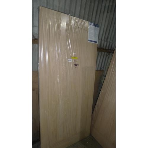 2027 - 1 Jeld Wen Croft Oak exterior door approx 1981mm x 914mm - will require exterior preservative before...