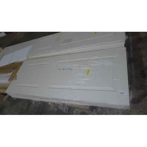 2056 - 1 pallet containing 4 Cambridge hollow panelled MDF slab internal FD30 fire doors comprising 4 at 19...