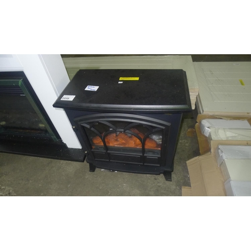 2058 - 1 Vonhaus Orlando electric heater in the style of a log burner, 240v - Please note that one plastic ...