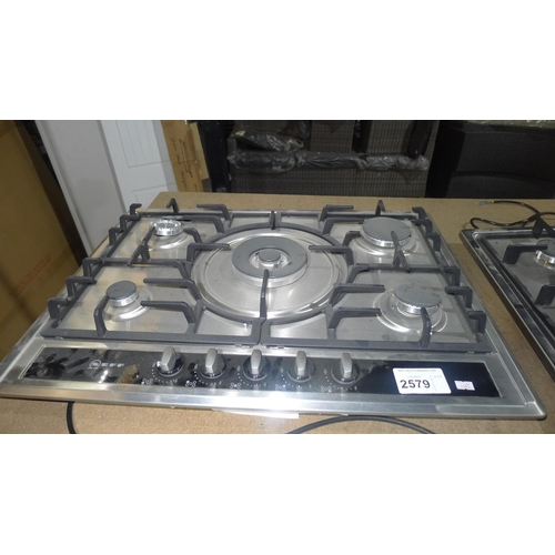 2579 - 1 Neff stainless steel extra wide 5 ring gas hob type T26S56NO, G20 natural gas / 240v, approx 70cm ...