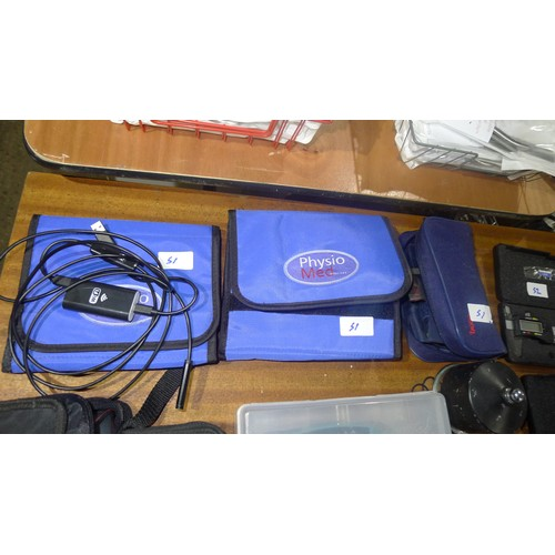 51 - A quantity of various podiatry related items including biometers, a WiFi camera, etc...