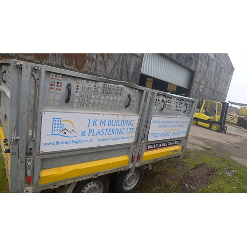 5422 - 1 Brian James twin axle tipping bed high sided trailer model Cargo Tipper 2, capacity approx 2700kg,...