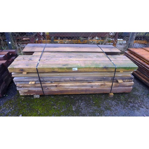 6032 - A quantity of various lengths of wood including lap board, thick feather edge (oak?), 20cm x 7.5cm, ...