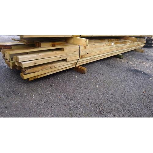 6075 - A quantity of various lengths of wood including 4.5cm x 4.5cm, 6.5cm x 4.5cm, 19cm x 2cm etc. Length...