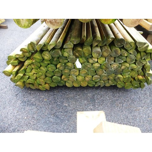 6067 - A large quantity of half round poles each at approx 7cm x 3cm x 365cm long (Bottom stack)...