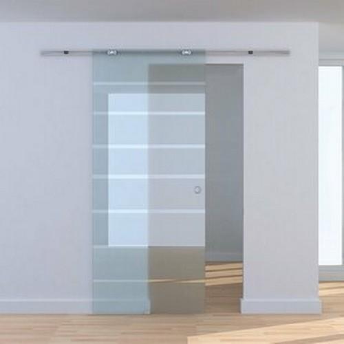 2050 - 2 Homcom B70-004  Nenana aluminium / glass sliding doors each approx 78cm x 206cm