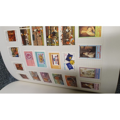 1001A - 3 Volumes of stamps representing the Islands of the West Indies.