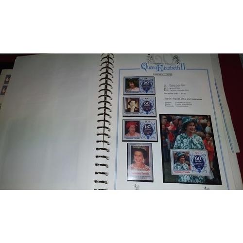 1001C - The Royal Wedding stamp Album by Stanley Gibbons, HRH Charles & Diana, 1 album of the 60th Birthday ...