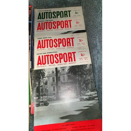 1010A - Motor Sport Magazines 1960 - 1967  + 2 from 1985. Auto Sport Magazines 1963, etc.