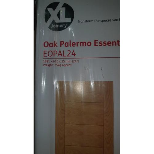 2016 - 2 XL Joinery Oak Palermo Essential internal doors each approx 1981mm x 610mm
