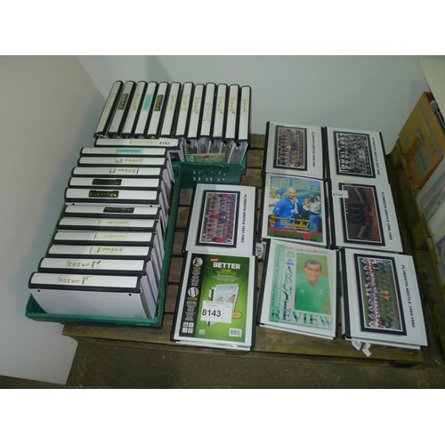 8143 - 1 pallet of 32 files containing a large quantity of Plymouth Argyle football programmes (believed to...
