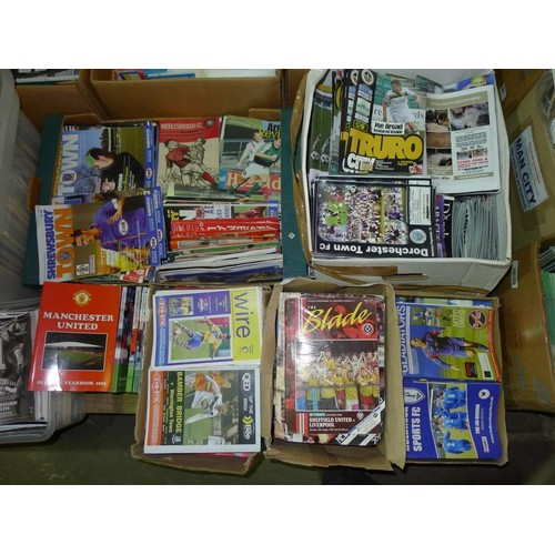 8144 - 1 pallet containing a large quantity of various football programmes and 1 black lever arch file cont...