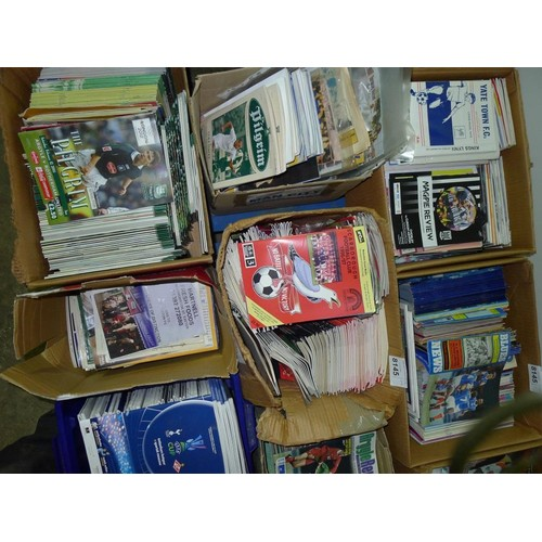8145 - 1 pallet containing a large quantity of various football programmes. Clubs include Tottenham Hotspur...