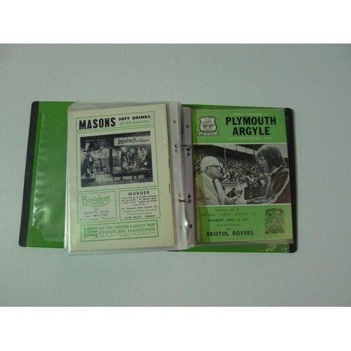 8146 - 1 pallet containing a large quantity of various Plymouth Argyle football programmes including some i...