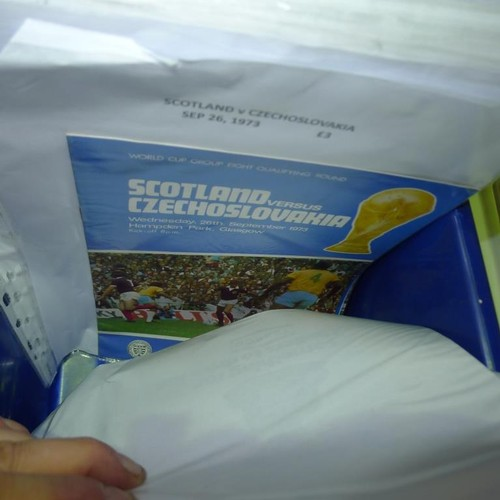 8192 - 1 box containing a quantity of various Scottish Internationals, cup finals and semi final football p...