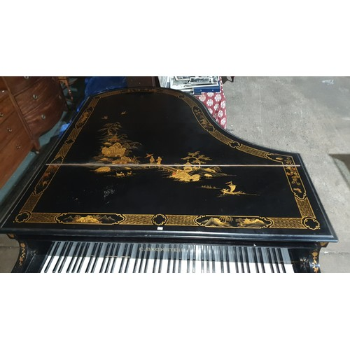 3668 - (H1) 1926 Bechstein model L boudoir grand piano (5ft 7ins) with twin side tapered legs and elaborate...