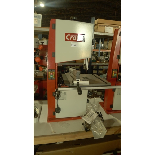 2295 - 1 bench top band saw type Craft AC1950B, 240v RRP £359 with 1 pack of metal legs which are assumed t...