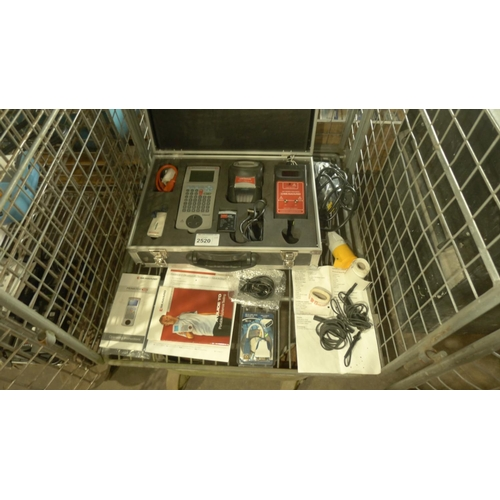 2520 - A Seward PAT testing kit contained in a carry case comprising of a Seaward Prime Test 350 test unit,...