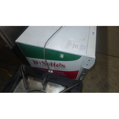 3180 - A countertop commercial display freezer by Inter Levin approx 58x54x67cm - trade
