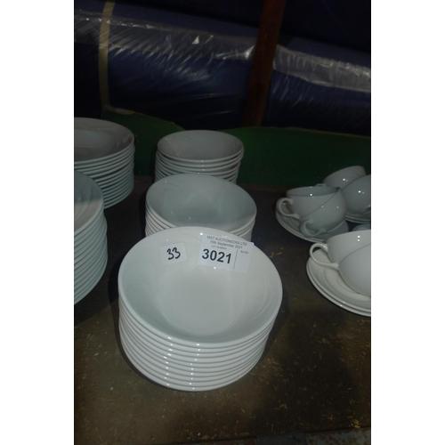 3021 - 33 white breakfast bowls by Steelite type Alvo Distinction