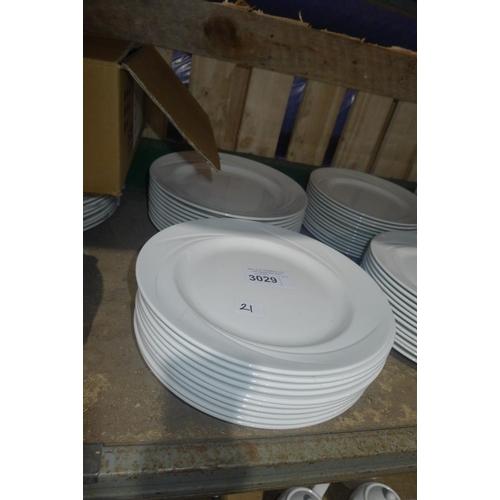 3029 - 21 white large dinner plates by Steelite type Alvo Distinction