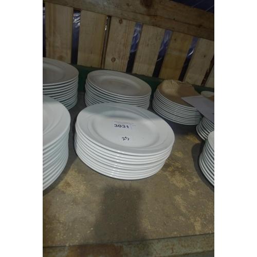 3031 - 23 white side plates by Steelite type Alvo Distinction